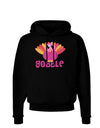Cute Gobble Turkey Pink Dark Hoodie Sweatshirt