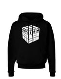 Autism Awareness - Cube B & W Dark Hoodie Sweatshirt