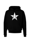 White Star Dark Hoodie Sweatshirt - Black - 3XL Tooloud