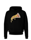 Pizza Slice Dark Dark Hoodie Sweatshirt Black 3XL Tooloud