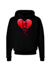 Crumbling Broken Heart Dark Hoodie Sweatshirt by