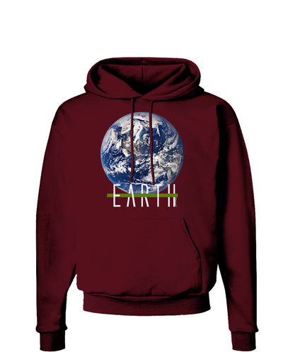 Planet Earth Text Dark Hoodie Sweatshirt