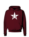 White Star Dark Hoodie Sweatshirt - Maroon - 3XL Tooloud