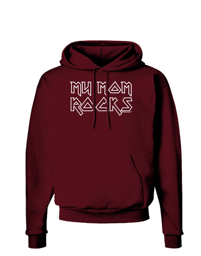 My Mom Rocks - Mother's Day Dark Hoodie Sweatshirt