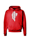 Single Left Angel Wing Design - Couples Dark Hoodie Sweatshirt