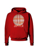 Planet Jupiter Earth Text Dark Hoodie Sweatshirt