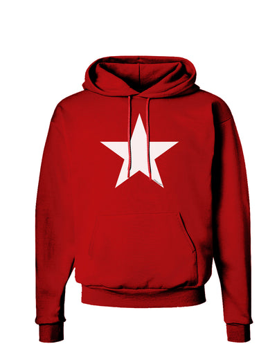 White Star Dark Hoodie Sweatshirt - Red - 3XL Tooloud