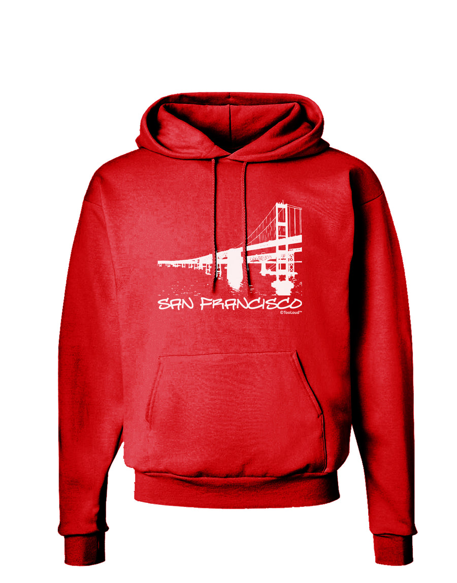 Bay Bridge Cutout Design - San Francisco Dark Hoodie Sweatshirt by TooLoud