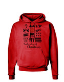 12 Days of Christmas Text Color Hoodie Sweatshirt