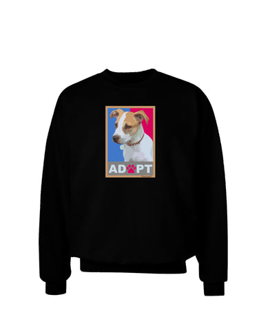 Adopt Cute Puppy Poster Adult Dark Sweatshirt