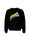 Pizza Slice Dark Adult Dark Sweatshirt Black 3XL Tooloud