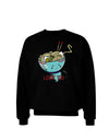 Matching Lovin You Blue Pho Bowl Dark Adult Dark Sweatshirt Black 3XL