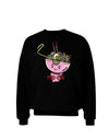 Matching Pho Eva Pink Pho Bowl Adult Dark Sweatshirt Black 3XL Tooloud