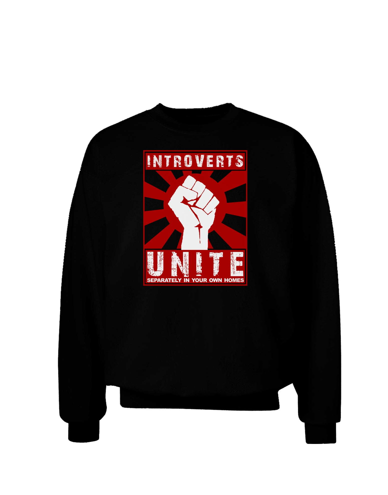 Introverts Unite Funny Adult Dark Sweatshirt by TooLoud ...