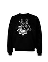 Mandala Baby Elephant Adult Dark Sweatshirt - Black - 3XL Tooloud