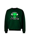 Alien DJ Adult Dark Sweatshirt