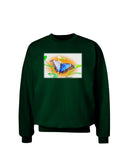 Blue Watercolor Butterfly Adult Dark Sweatshirt
