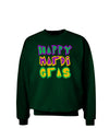 Happy Mardi Gras Text 2 Adult Dark Sweatshirt