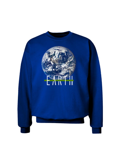 Planet Earth Text Adult Dark Sweatshirt