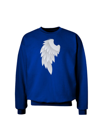 Single Left Angel Wing Design - Couples Adult Dark Sweatshirt