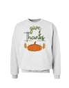 Give Thanks Sweatshirt White 3XL Tooloud