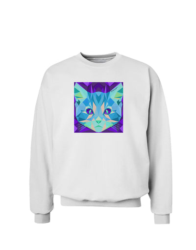 Geometric Kitty Inverted Sweatshirt