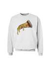 Pizza Slice Sweatshirt White 3XL Tooloud