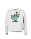 Matching Lovin You Blue Pho Bowl Sweatshirt White 3XL Tooloud