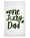 One Lucky Dad Shamrock Flour Sack Dish Towel