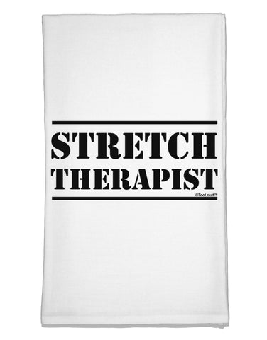 Stretch Therapist Text Flour Sack Dish Towels by TooLoud