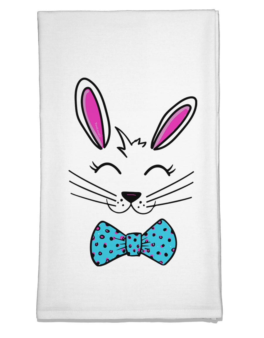 Happy Easter Bunny Face Flour Sack Dish Towel