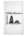 Flatten the Curve Graph Flour Sack Dish Towel