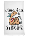 America is Strong We will Overcome This Flour Sack Dish Towel