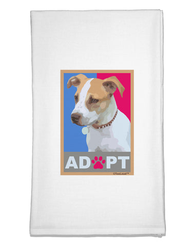 Adopt Cute Puppy Poster Flour Sack Dish Towel