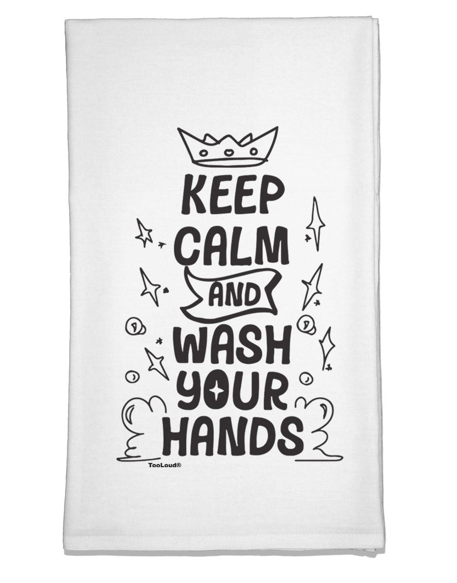 Keep Calm and Wash Your Hands Flour Sack Dish Towel