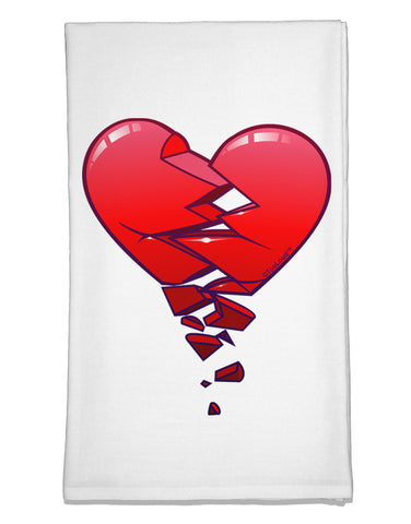 Crumbling Broken Heart Flour Sack Dish Towels by TooLoud