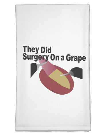 They Did Surgery On a Grape Flour Sack Dish Towel by TooLoud