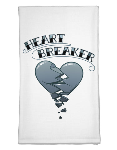 Heart Breaker Manly Flour Sack Dish Towels by TooLoud