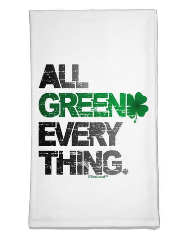 All Green Everything Distressed Flour Sack Dish Towel