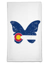 Grunge Colorado Butterfly Flag Flour Sack Dish Towel