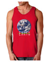 Planet Earth Text Dark Loose Tank Top