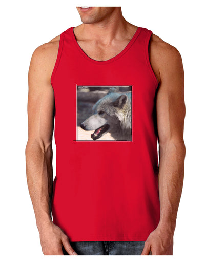 TooLoud White Wolf Face Dark Loose Tank Top
