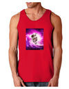 Astronaut Cat Dark Loose Tank Top