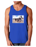 Antique Vehicle Dark Loose Tank Top
