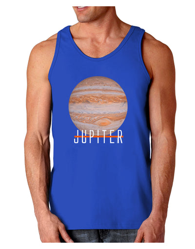 Planet Jupiter Earth Text Dark Loose Tank Top