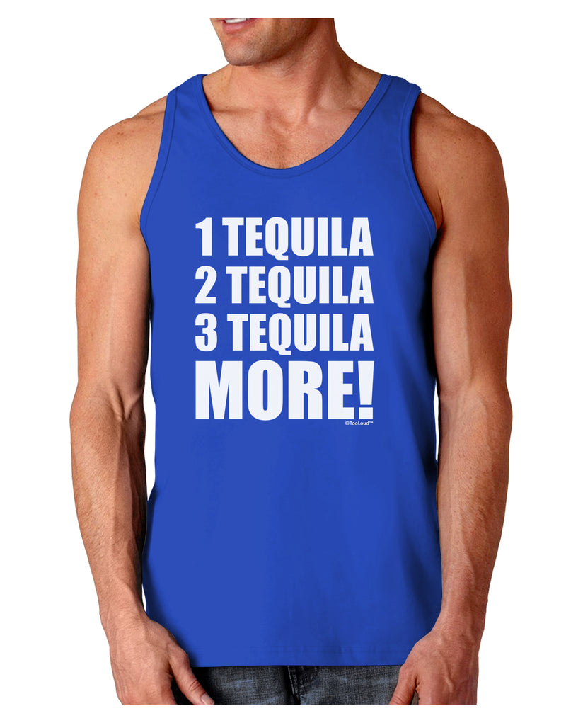 1 Tequila 2 Tequila 3 Tequila More Dark Loose Tank Top By