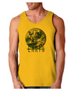 Planet Earth Text Loose Tank Top