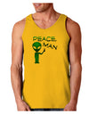 Peace Man Alien Loose Tank Top