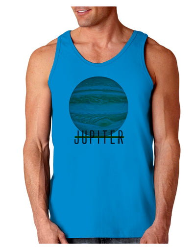 Planet Jupiter Earth Text Loose Tank Top
