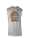 Planet Jupiter Earth Text Muscle Shirt
